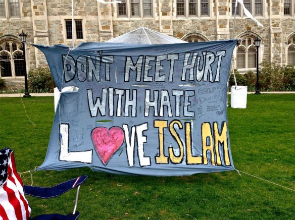 Love Islam Banner in the Quad